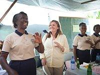 AARP Foundation President Lisa Marsh Ryerson in Haiti.