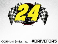 Racing flags - #24 Jeff Gordon