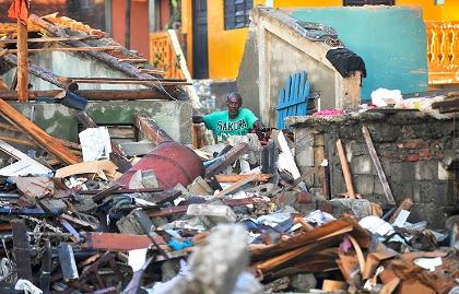 International damage after after hurricane Matthew.