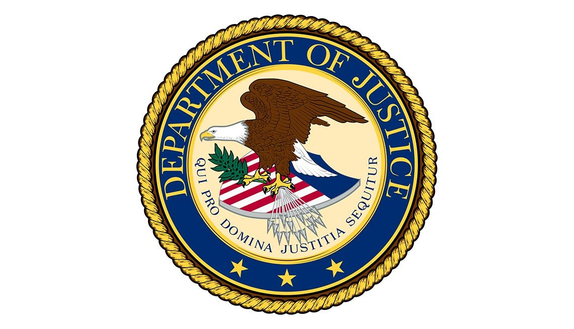 The Seal of the U.S. Department of Justice, AARP Foundation