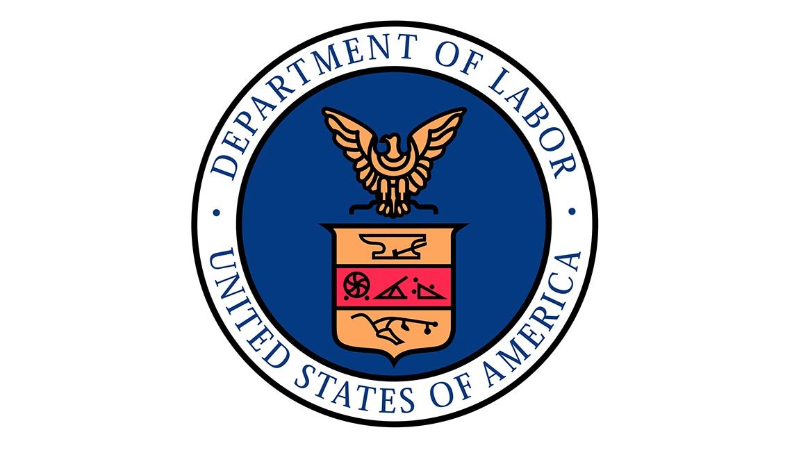 The Seal of the United States Department of Labor, AARP Foundation