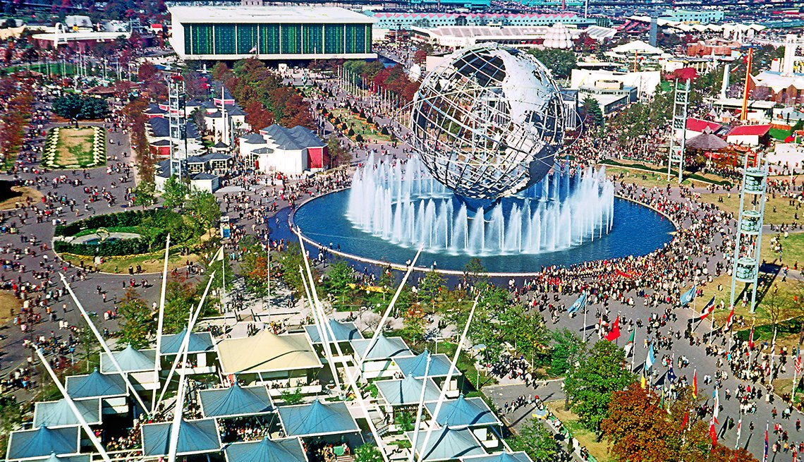 Ariel shot of 1964 World's Fair