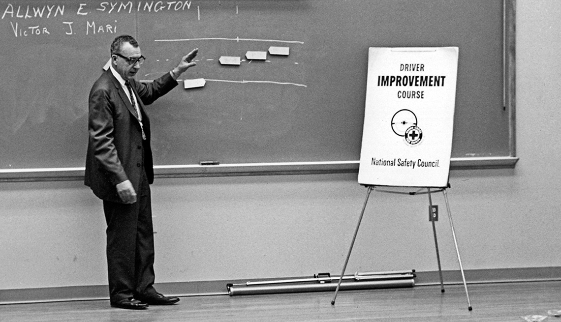 item 7 of Gallery image - A man teaching driver's safety in a classroom