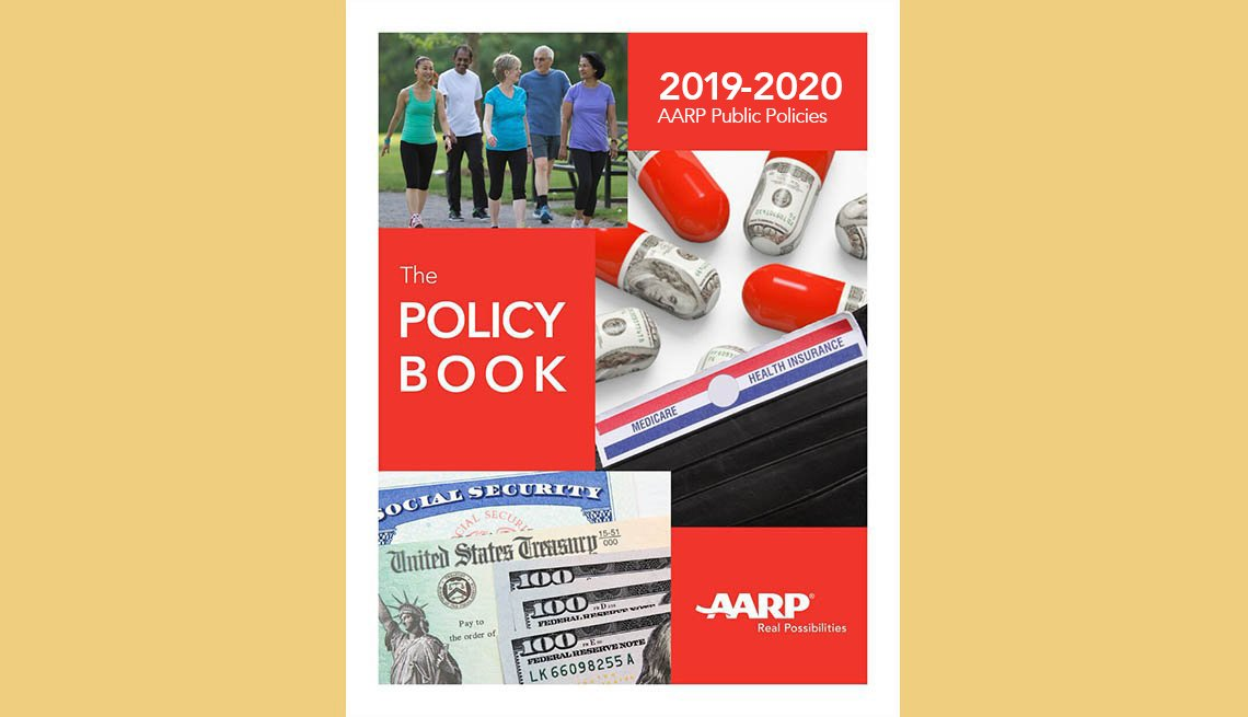 2019 - 2020 A A R P Public Policy, the Policy Book. Cover of a bookelt