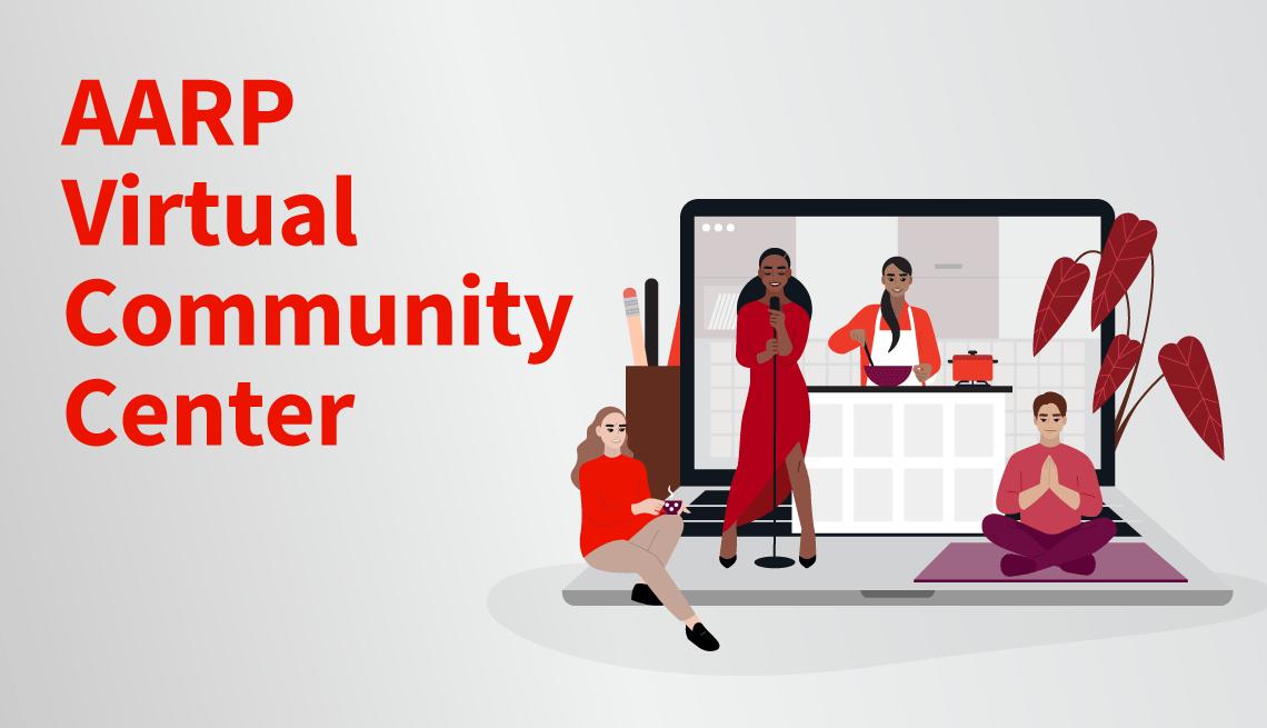 illustration depicting the AARP Virtual Community Center