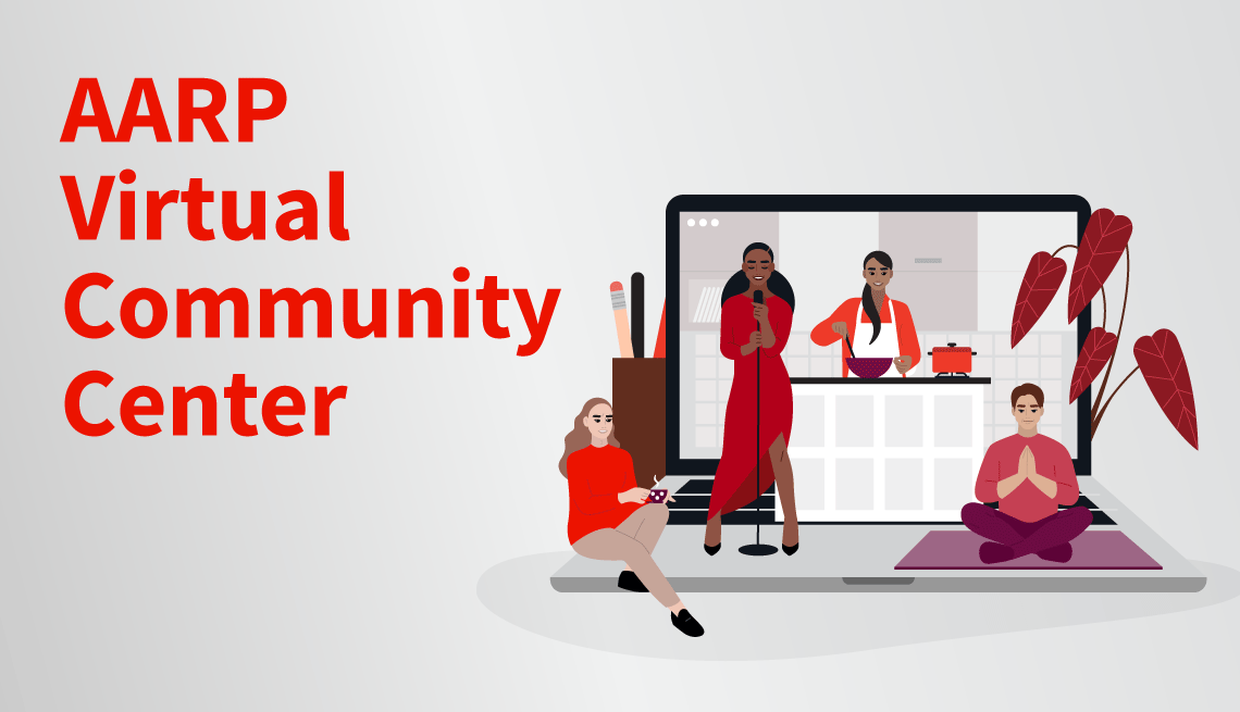 illustration depicting the AARP Virtual Community Center