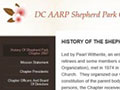 AARP DC's Shepherd Park Chapter website to share chapter activities.