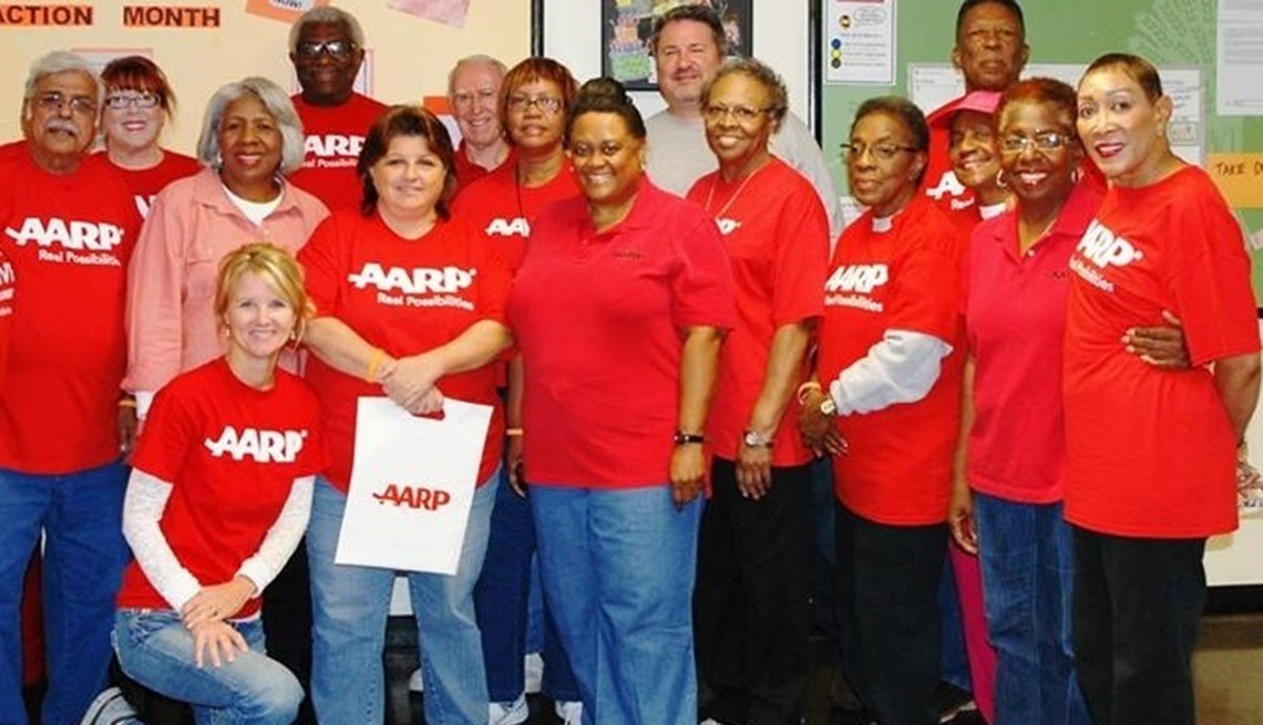 Grupo de voluntarios de AARP