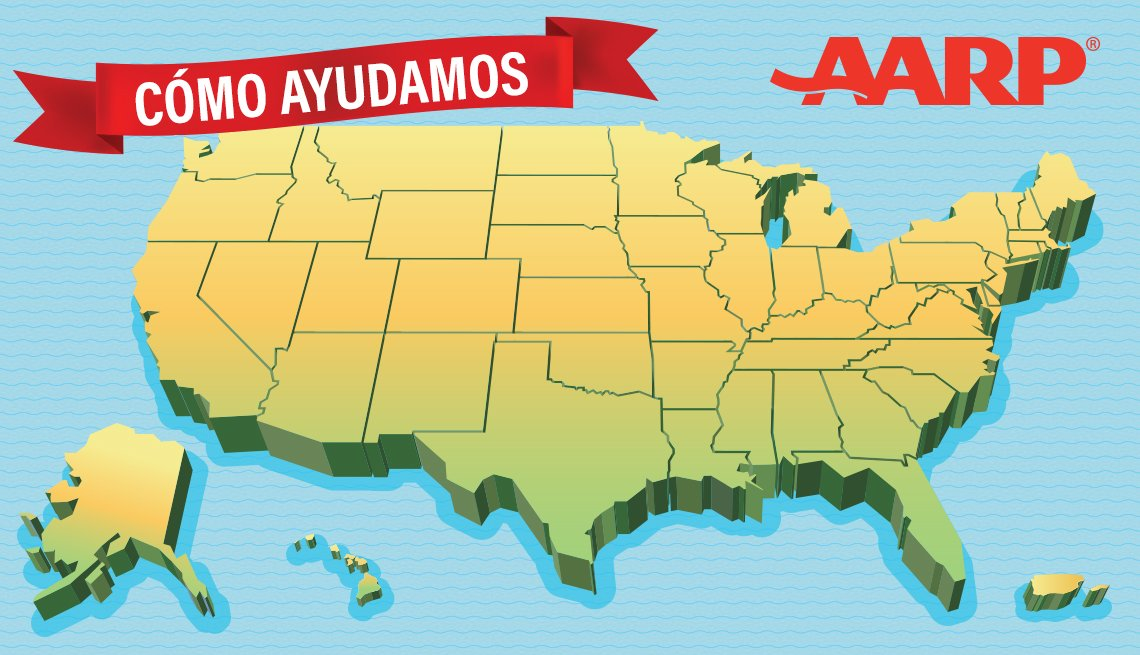 Mapa de Estados Unidos que dice cómo ayudamos