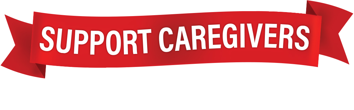 banner that reads Support Caregivers