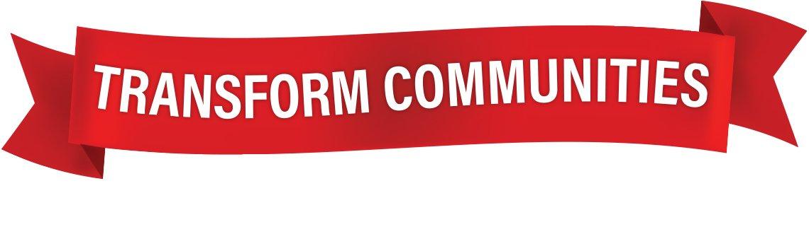 banner that reads Transform Communities