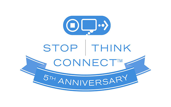 stop think connect fifth anniversary logo