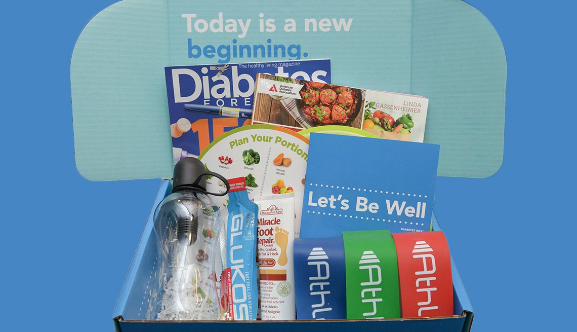 Photo of diabetes box with text Today is a new beginning.