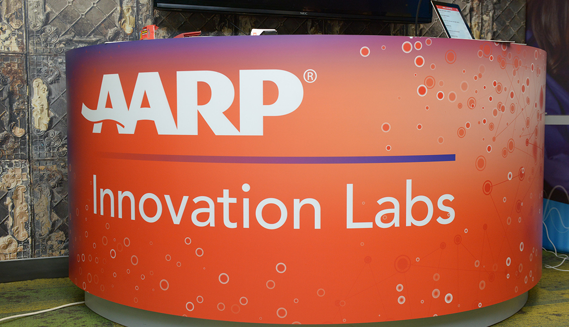 AARP Innovation Labs stand
