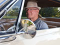 Les Pence in his 1965 Chevy Corvair Monza- AARP Driver Safety program helps older drivers