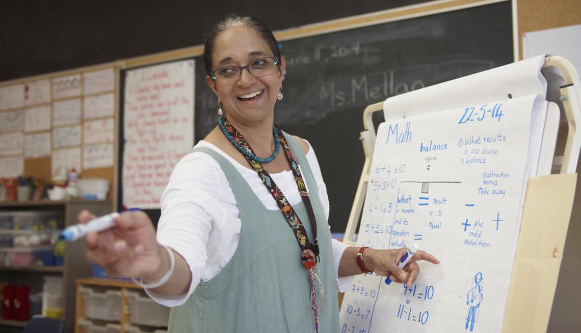 Teacher with Flip Chart, Classroom Interaction, The NRTA Pension Education Toolkit