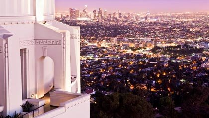 Visit Griffith Observatory and see downtown Los Angeles at dusk, one of the many free things to do when in Los Angeles for the AARP National Member Event 2011.