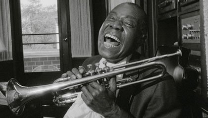 famous musicians from New Orleans-Louis Armstrong aka satchmo
