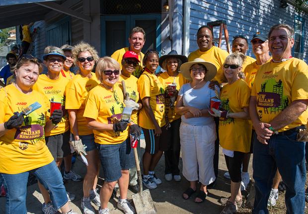 group portrait, AARP Life@50+ Volunteer Day