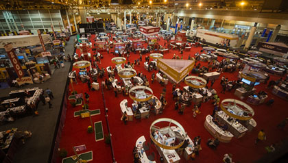 Overhead view of exhibition floor at Life@50+