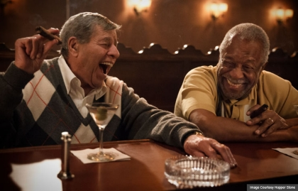 Two men at bar, Jerry Lewis, Lee Weaver, Max Rose, AARP Movies for Grownups, Life@50 Las Vegas