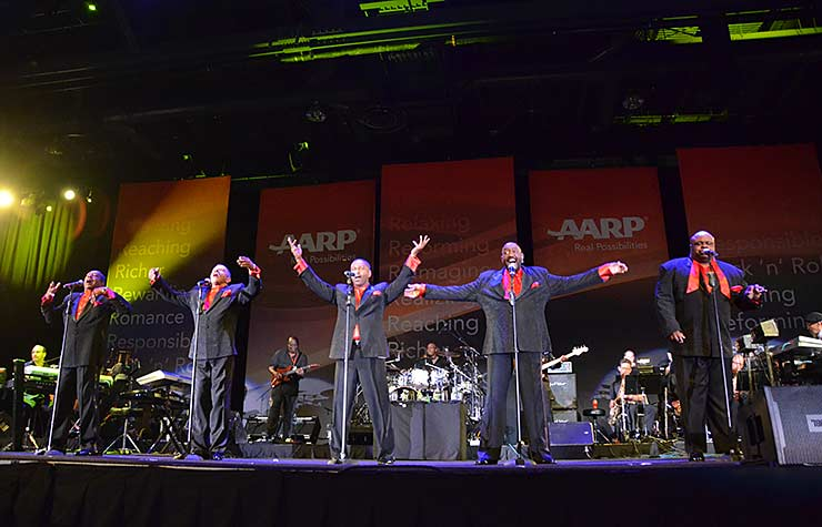 The Temptations performing at the Spring 2013 Life@50+ event in Las Vegas