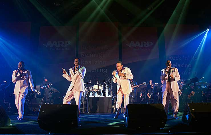 The Four Tops performing at the Spring 2013 Life@50+ event in Las Vegas