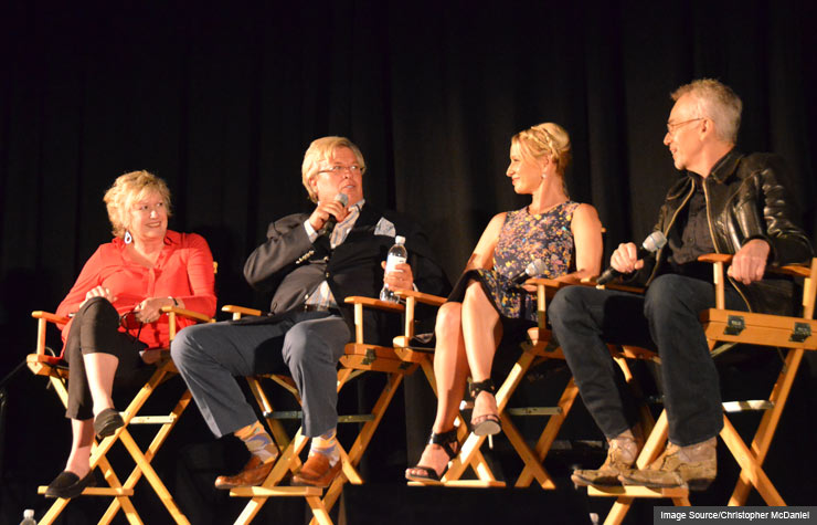 Meg Grant. Ron White, Katherine LaNasa and Billy Bob Thornton at Life@50+ Las Vegas Movies for Grownups Film Festival.