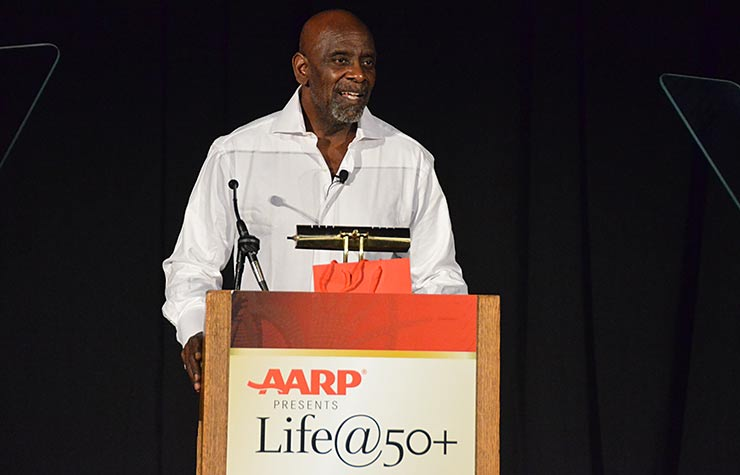 Chris Gardner appearing at the Spring 2013 Life@50+ Las Vegas