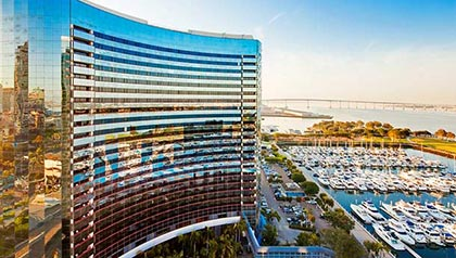 Exterior view of Marriott Marquis and Marina in San Diego