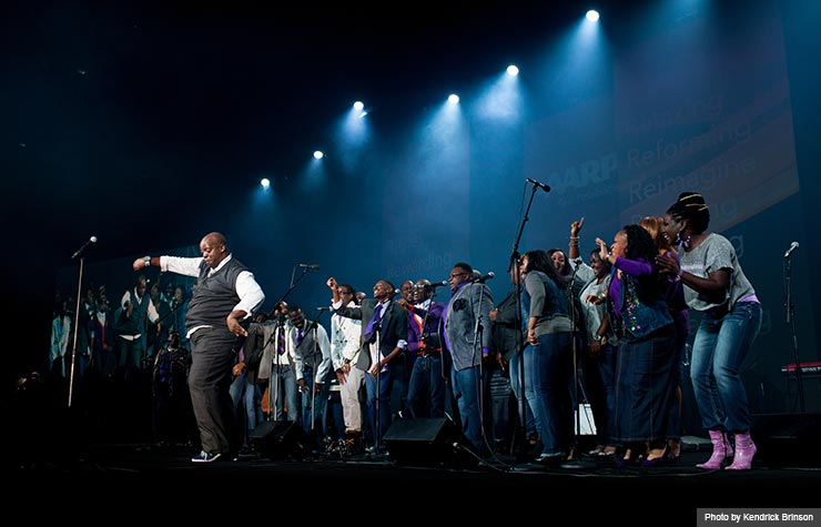 James Jackson & Atlanta Praise performed at the gospel concert during the Life@50+ National Event & Expo in Atlanta. (Photo by Kendrick Brinson)