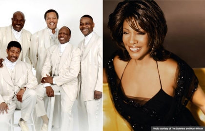 The Spinners and Mary Wilson performing at the Life@50+ National Event & Expo in Boston. (Photo courtesy of The Spinners and Mary Wilson)
