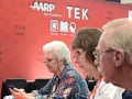 Attendees learn about tablets in the TEK area of the AARP Life@50+ National Event and Expo in Boston on Thursday.