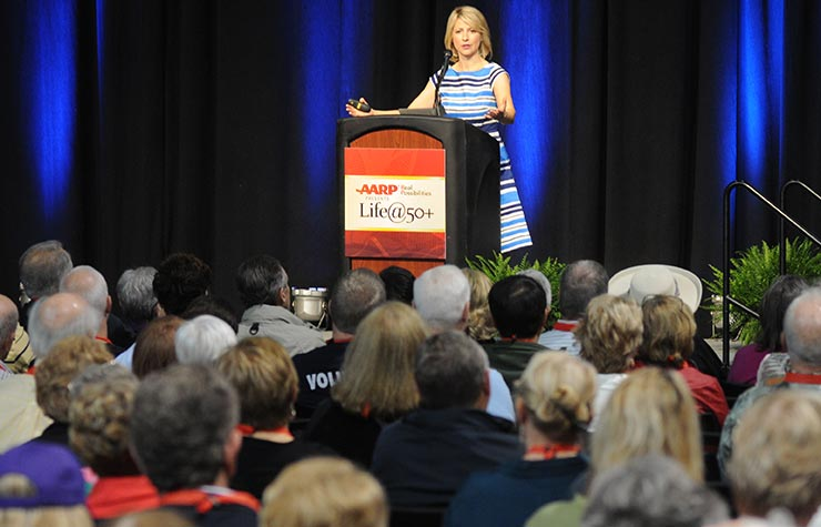 AARP Travel Ambassador, Samantha Brown, appeared at Life@50+ Boston.