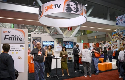 Get TV booth on Life@50+ Boston exhibit floor.