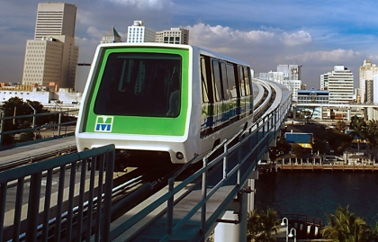 Miami Metromover in Miami, Florida.