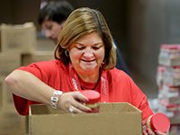 AARP volunteers helped pack 81,000 meals during Ideas@50+ which were donated to the Jacobs & Cushman San Diego Food Bank.