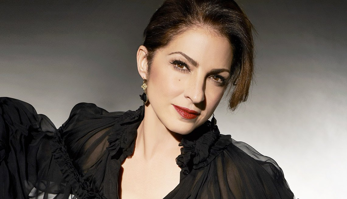 item 1, Gallery image. Gloria Estefan performing at the Life@50+ National Event & Expo in Miami.