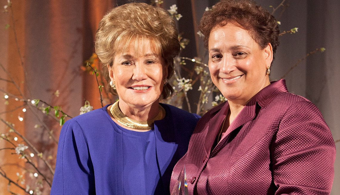 Elizabeth Dole, Jo Ann Jenkins, AARP Andrus Award, Newseum in Washington, D.C.