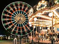 Georgia State Fair Carousel at night