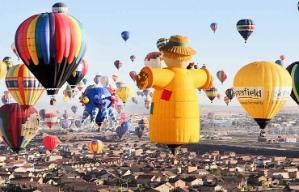 Festival de globos coloridos en Albuquerque
