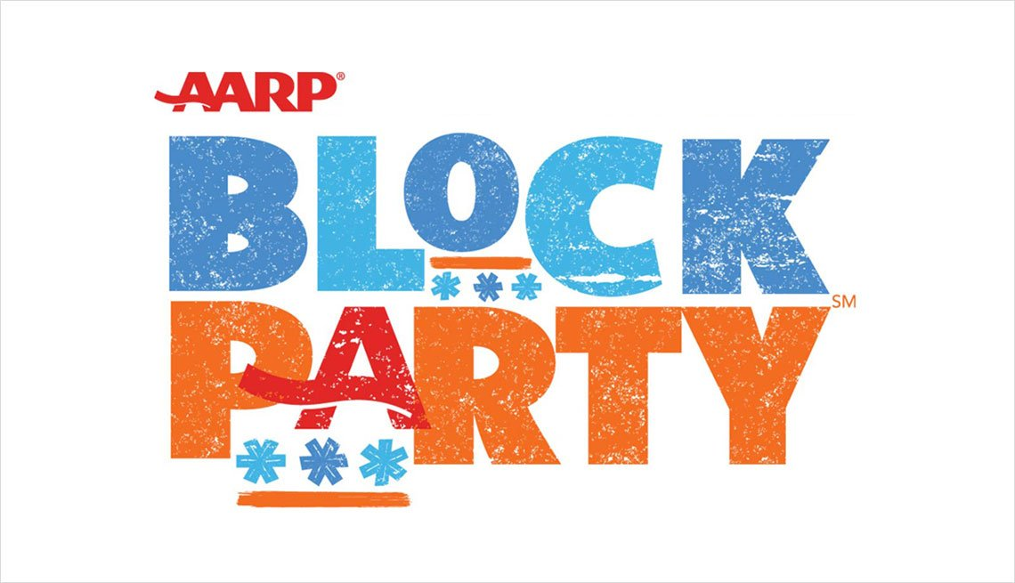 Logotipo Block Party de AARP