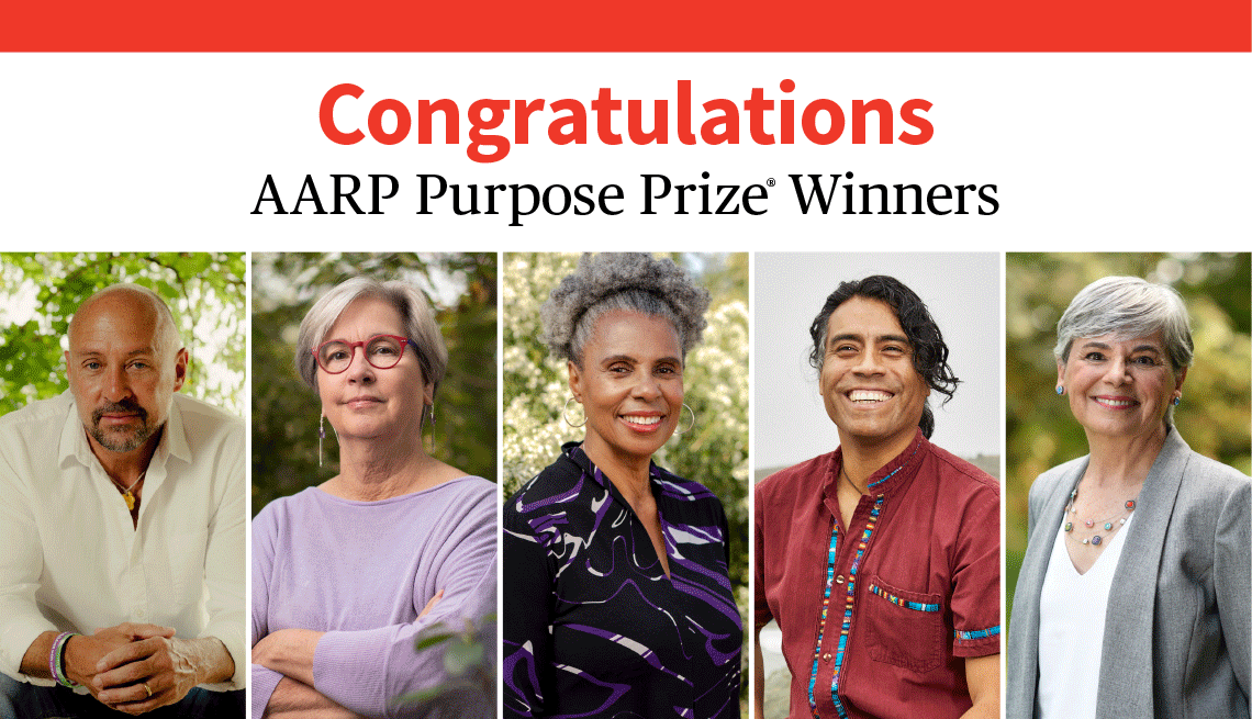 Congratulations A A R P purpose prize winners