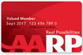 New AARP membership card