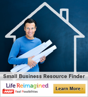 Man holding blueprints:Small Business Resource Center