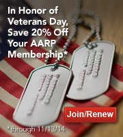 Thank a Veteran with a special offer from AARP.