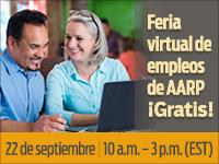 Feria virtual de empleos  de AARP  ¡Gratis!
