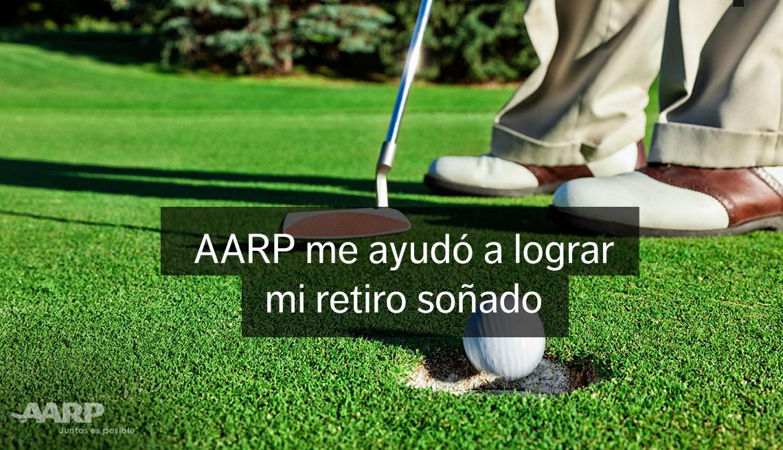 item 7 of Gallery image - Campo de golf y el letrero AARP me ayudó a lograr mi retiro soñado