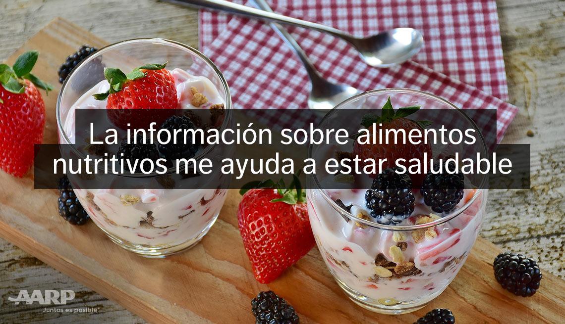 item 10 of Gallery image - La información sobre alimentos nutritivos me ayuda a estar saludable