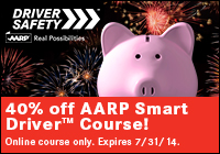 Driver Safety - 40% off AARP Smart Driver Course!